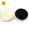 "5"" (125mm) Hook & Loop Woolen Polishing Wheel Buffing Pad"