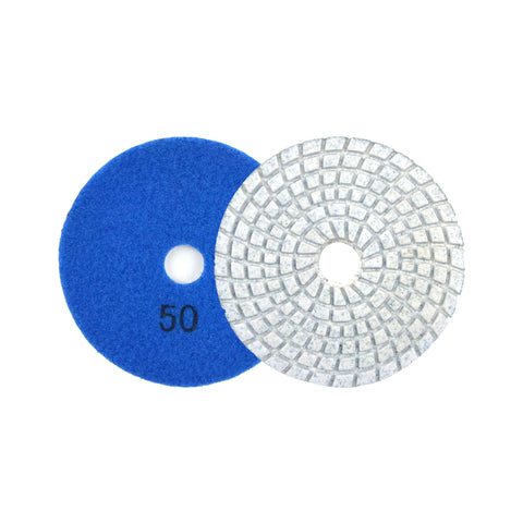"3"" 50 Grit Diamond Wet/Dry Hook & Loop Polishing Discs"