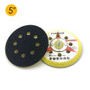 "5"" (125mm) x 5/16-24 Male 8 Holes Hook & Loop Back-up Sanding Pads"