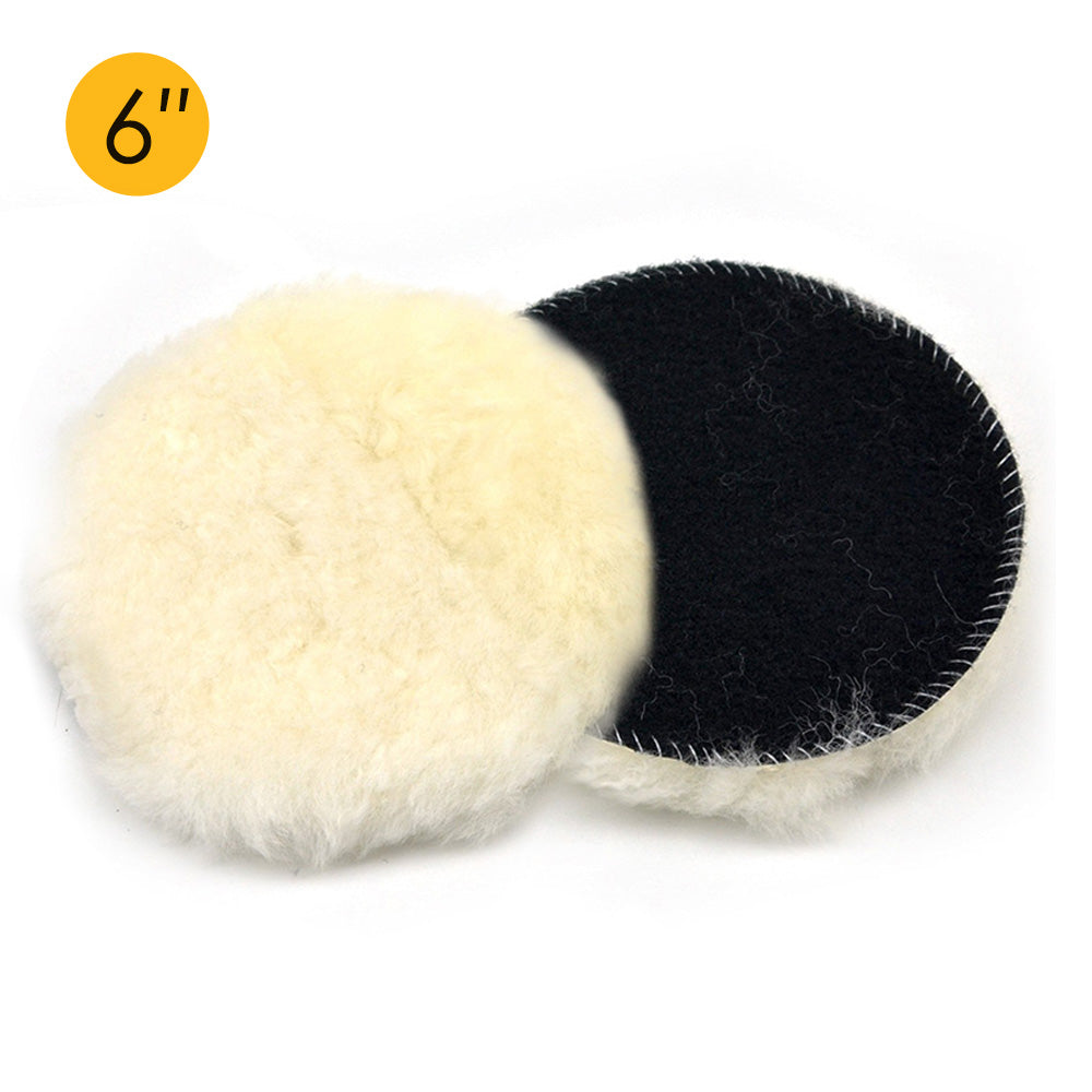 "6"" (150mm) Hook & Loop Woolen Polishing Wheel Buffing Pad"