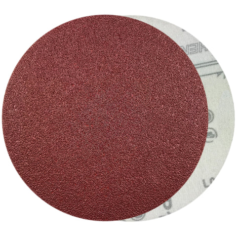 "6"" 60 Grit Red Grain Hook & Loop Sanding Discs, 10 Discs"