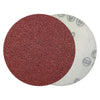 "4"" 60 Grit Red Grain Hook & Loop Sanding Discs, 10  Discs"
