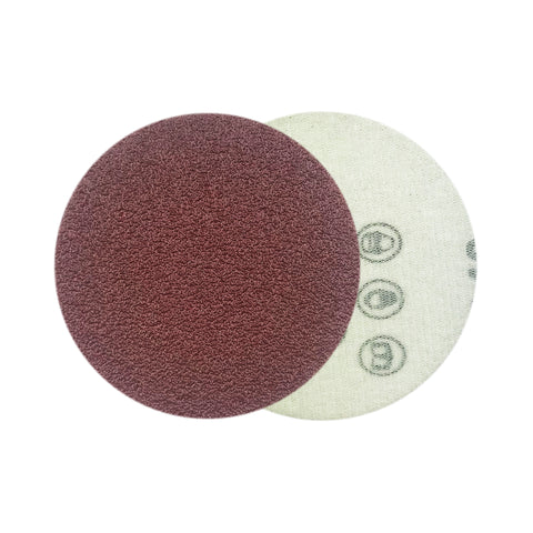 "3"" 60 Grit Red Grain Hook & Loop Sanding Discs, 10 Discs"