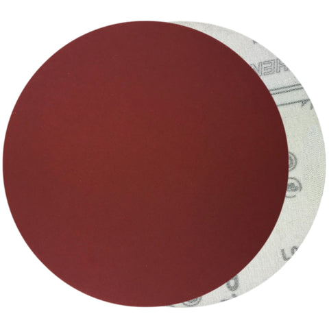 "6"" 600 Grit Red Grain Hook & Loop Sanding Discs, 10 Discs"