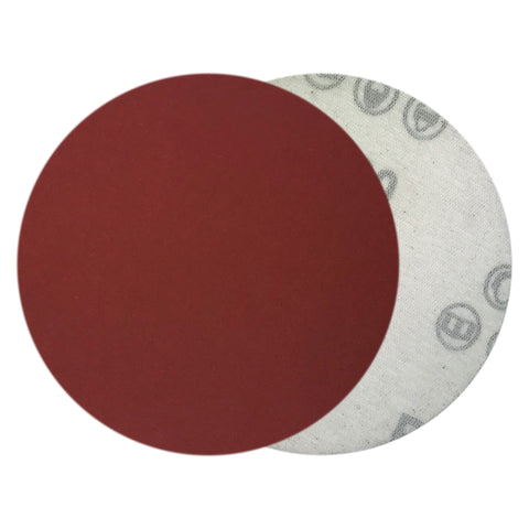 "4"" 600 Grit Red Grain Hook & Loop Sanding Discs, 10  Discs"
