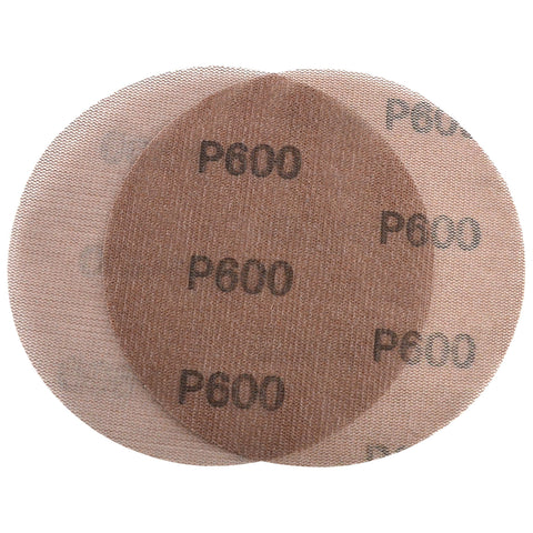 "6"" (150mm) 600 Grit Hook & Loop or Clip on Sander Pads,Mesh Dust Free Sanding Discs, 10 Discs"
