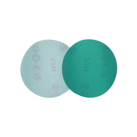 "5"" (125mm) 240 Grit Hook & Loop Wet/Dry Polyester Film Green Sanding Discs, 10 Discs"