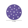 "6"" (150mm) 17-Hole Hurricane Purple Hook&Loop Sanding Discs for Dry Sanding (60-600), 1 Disc"
