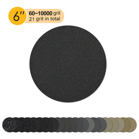 "6"" x 5/16-24 Male Hook & Loop Back-up Sanding Pads"