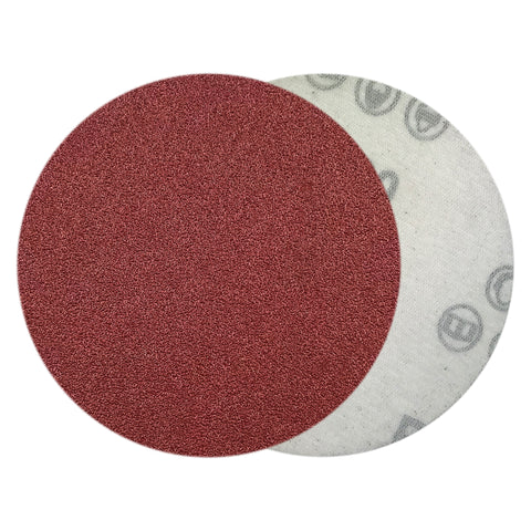 "4"" 80 Grit Red Grain Hook & Loop Sanding Discs, 10  Discs"