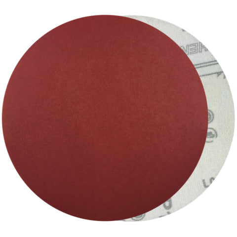 "6"" 800 Grit Red Grain Hook & Loop Sanding Discs, 10 Discs"