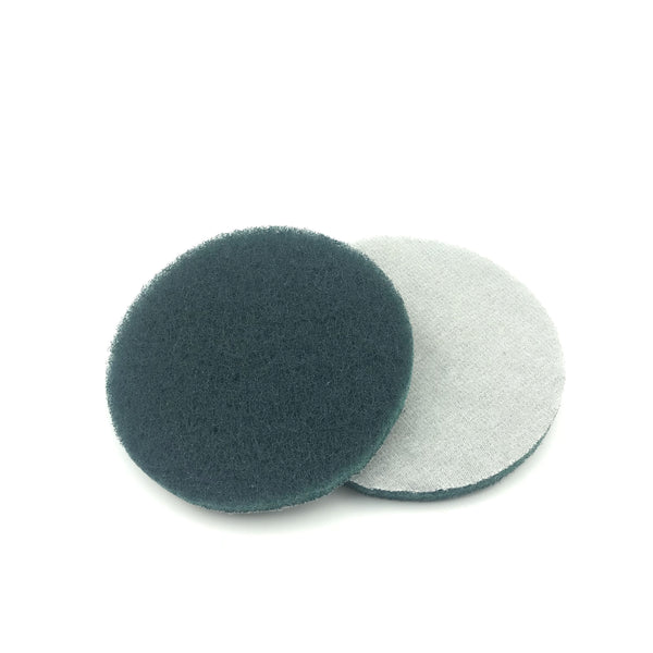 "5"" Fine(800 Grit) Round Heavy Duty Hook and Loop Scouring Pads"