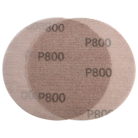 "6"" (150mm) 800 Grit Hook & Loop or Clip on Sander Pads,Mesh Dust Free Sanding Discs, 10 Discs"
