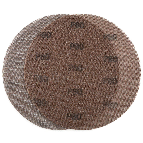 "9"" (220mm) 80 Grit Hook & Loop or Clip on Sander Pads,Mesh Dust Free Sanding Discs, 10 Discs"