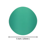 "5"" (125mm) 600 Grit Hook & Loop Wet/Dry Polyester Film Green Sanding Discs, 10 Discs"