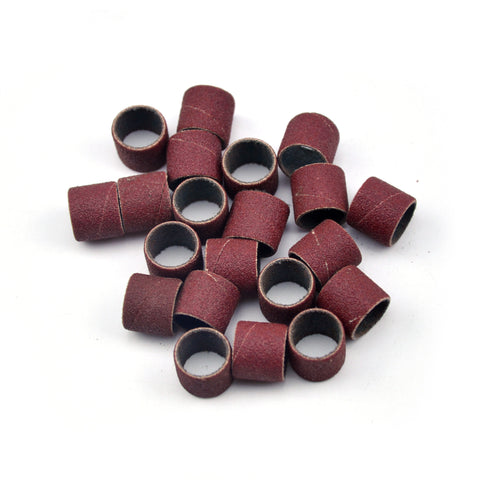 "1/2"" x 1/2"" 180 Grit Aluminum Oxide Sanding Ring Bands Spiral Wound Sanding Sleeves, 10 Bands"