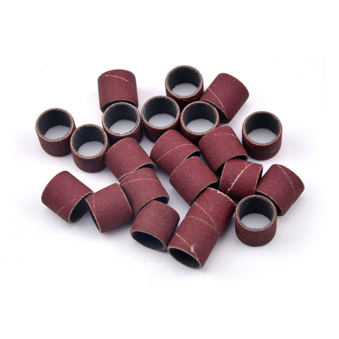 "1/2"" x 1/2"" 240 Grit Aluminum Oxide Sanding Ring Bands Spiral Wound Sanding Sleeves, 10 Bands"
