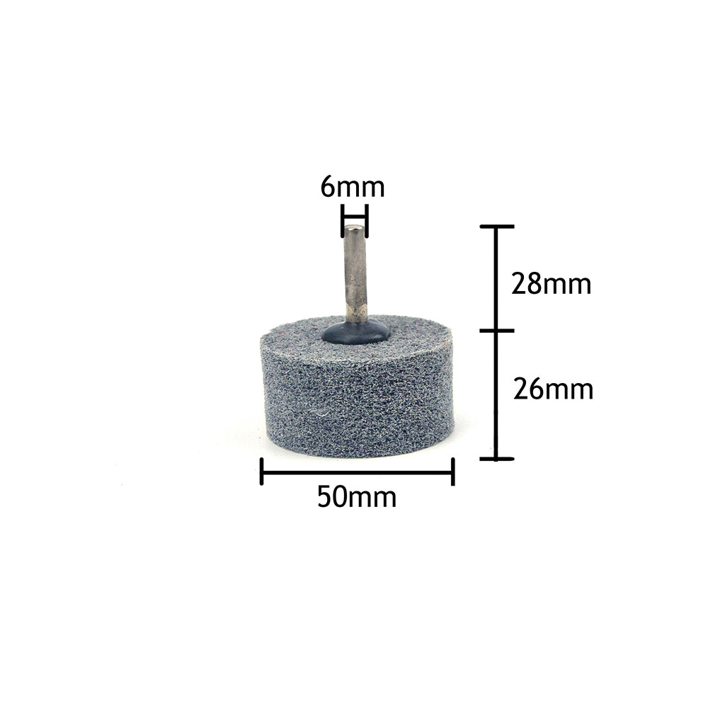 50mm x 6mm Shank Mounted Cylinder Points Fibre Grinding Wheels