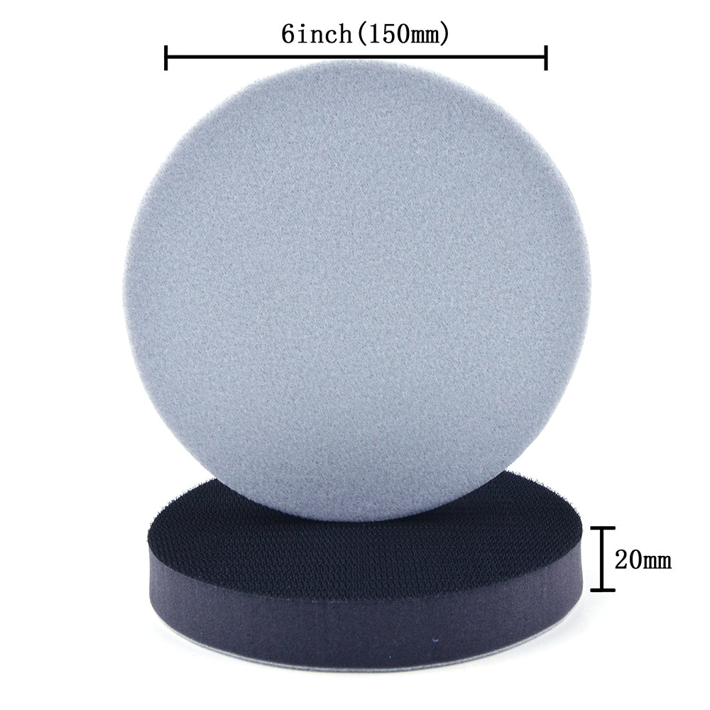 "6"" (150mm) 20mm Thick Soft Sponge Hook & Loop Surface Protection Interface Buffer Pad"