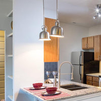 Wide Bowl Mini Pendant Light in Kitchen