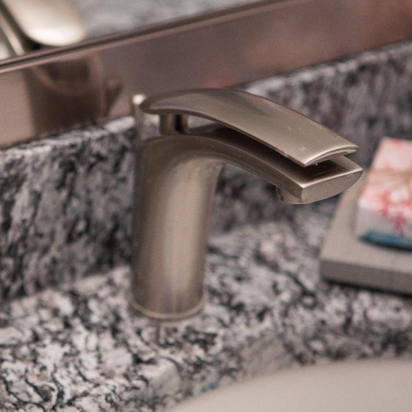 Bathroom Faucet - Single Handle installed