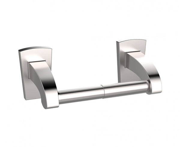 Toilet Paper Holder - Stainless Steel Mounting - Minimalist Design in Brushed Nickel