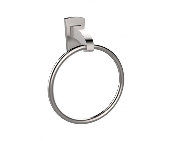 Towel Ring - Stainless Steel - 7 Inch - Contemporary Curved Design in Brushed Nickel