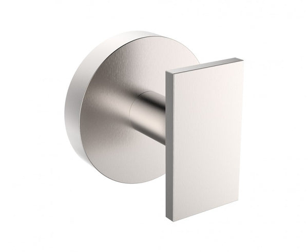 Wall Mounted Robe Hook - Stainless Steel - Rectangular Design in Brushed Nickel