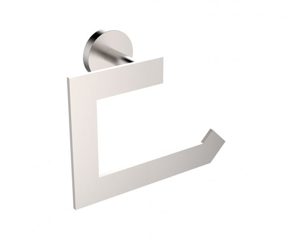 Toilet Paper Holder - Stainless Steel - Rectangular Design in Brushed Nickel