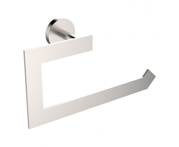 Towel Ring - Stainless Steel - Rectangular Design in Brushed Nickel