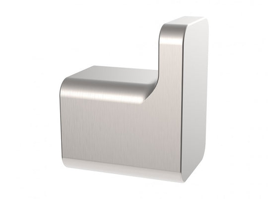 Robe Hook - 2 inch by 1 inch - Stainless Steel - Wall Mounted in Brushed Nickel