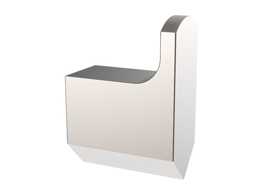 Wall Mounted Robe Hook - Geometric Design in Brushed Nickel