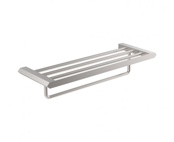 Towel Rack - 24 Inch - Stainless Steel - Geometric Design in Brushed Nickel