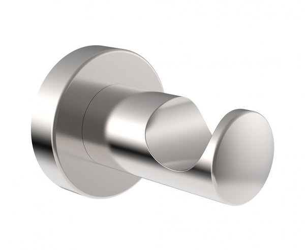 Wall Mounted Robe Hook - Steel - Sleek Design in Brushed Nickel