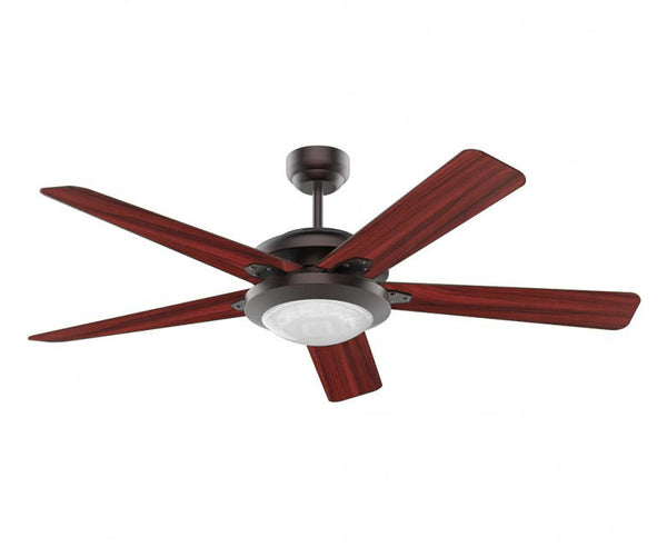 52 in. Ceiling Fan - 5 Blade - Shallow Dome Diffuser