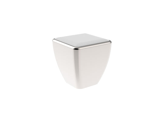 Square Cabinet Door Knob - Stainless Steel in Brushed Nickel