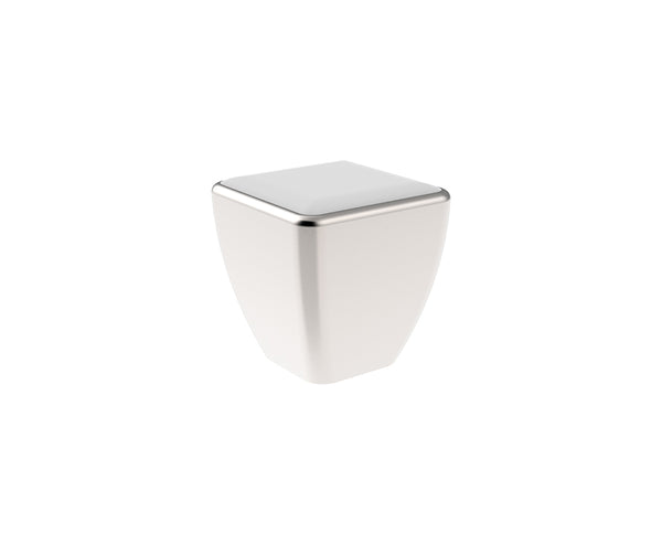 Square Cabinet Door Knob   Stainless Steel In Brushed Nickel