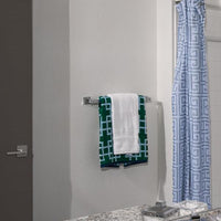 "Towel Bar - 24"" - Stainless Steel - Wall Mounted installed in bathroom"