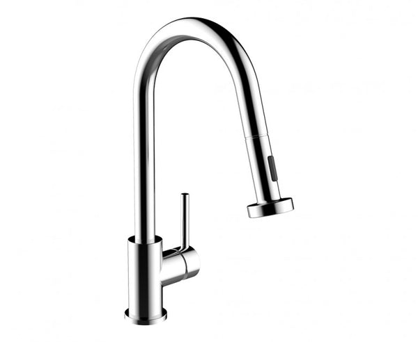 Kitchen Faucet - Single Handle - 16.5 Inch Goose Neck in Chrome