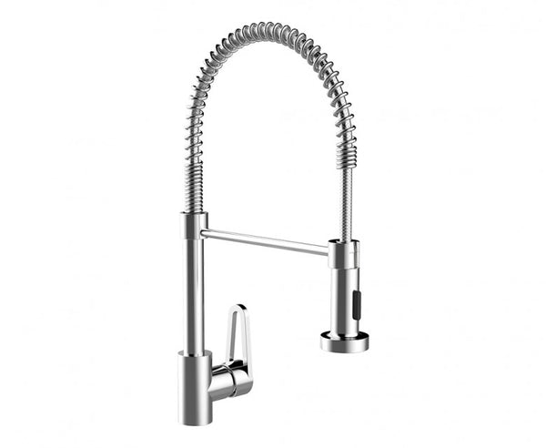 Pre-Rinse Kitchen Faucet - 19 Inch - Pull Down Sprayer - Single Handle in Chrome