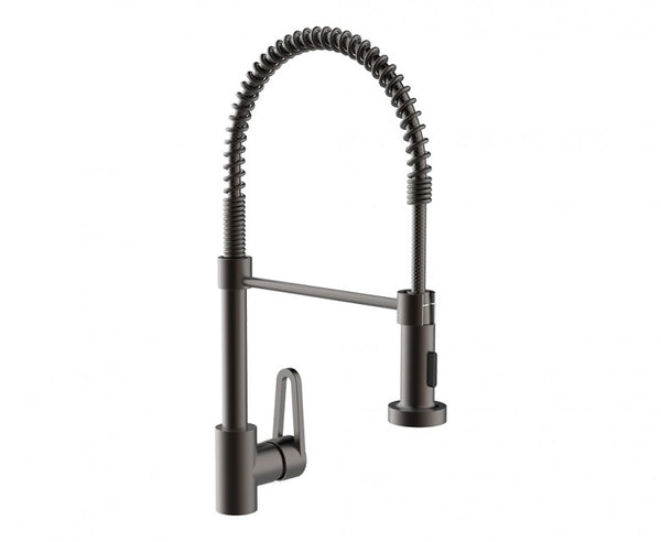Pre-Rinse Kitchen Faucet - 19 Inch - Pull Down Sprayer - Single Handle in Oil Rubbed Bronze
