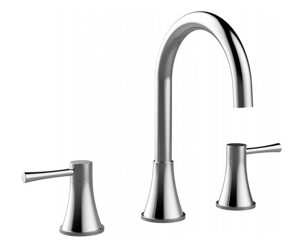 Bathroom Faucet in Chrome - High Arc - Double Handle