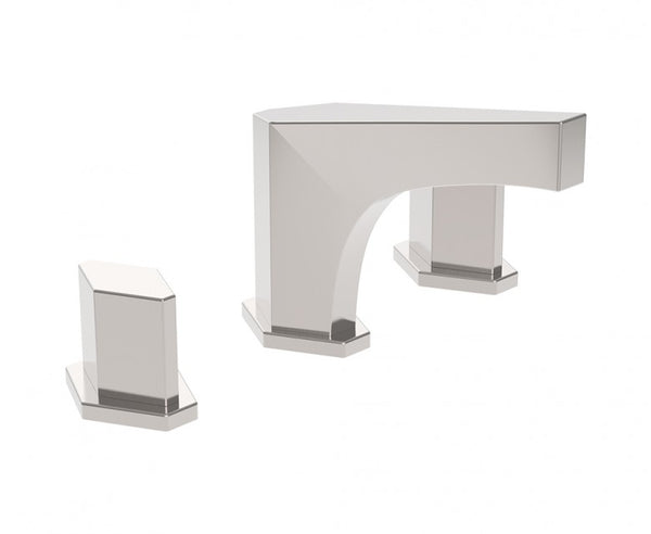 Bathroom Faucet in Brushed Nickel - Geometric Design