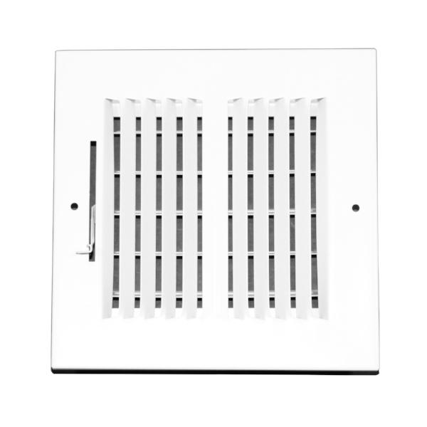6 Inch x 6 Inch Wall and Ceiling Register - Two-Way - Steel