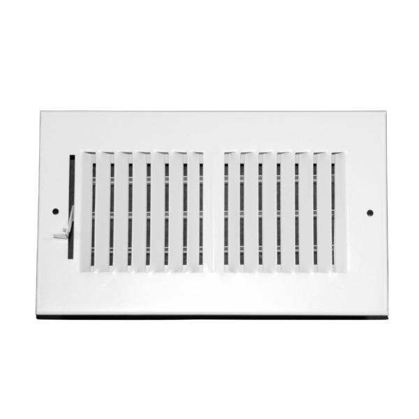 8 Inch x 4 Inch Wall and Ceiling Register - Two-Way - Steel