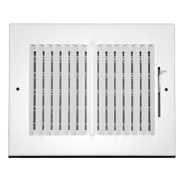 8 Inch x 6 Inch Wall and Ceiling Register - Two-Way - Steel