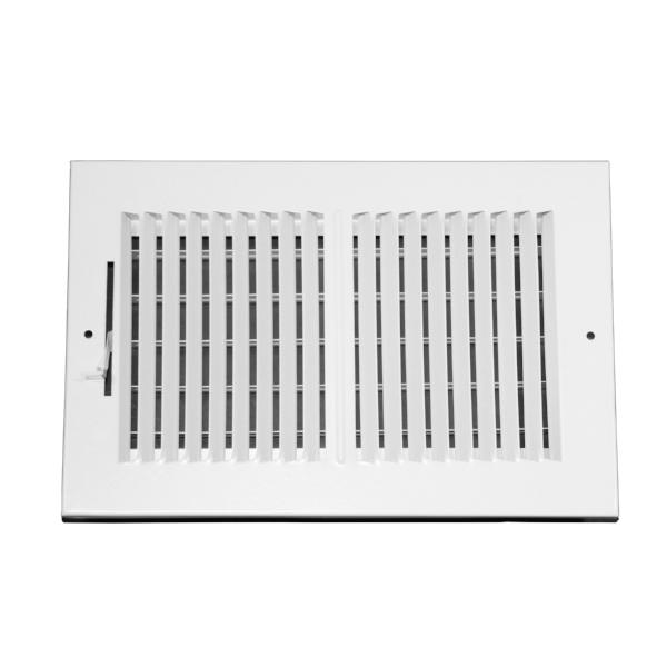 10 Inch x 6 Inch Wall and Ceiling Register - Two-Way - Steel