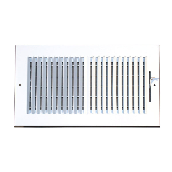 12 Inch x 6 Inch Two-Way Wall and Ceiling Register - Steel