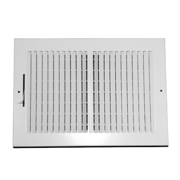 12 Inch x 8 Inch Wall and Ceiling Register - Two-Way - Steel