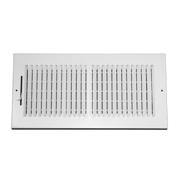 14 Inch x 6 Inch Wall and Ceiling Register - Two-Way - Steel